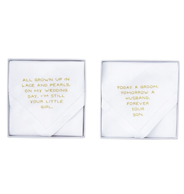 "Mud Pie ""Your Girl"" Wedding Handkerchief"