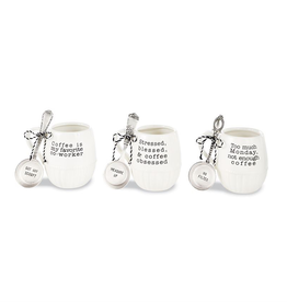 "Mud Pie ""Stressed, Blessed, Coffee"" Mug Set"