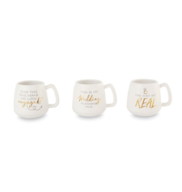 "Mud Pie ""Just Got Real"" Engaged Boxed Mug"