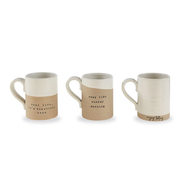 "Mud Pie ""Enjoy Today"" Stoneware Mug"