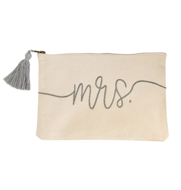 "Mud Pie ""Mrs."" Canvas Pouch"