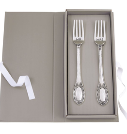 "Mud Pie ""Mr. & Mrs."" Wedding Fork Set"