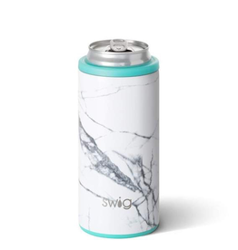 Swig 12oz Skinny Can Cooler - Marble Slab