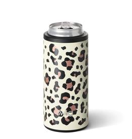 Swig 12oz Skinny Can Cooler - Luxy Leopard