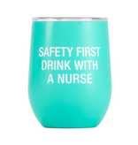 About Face Designs - Nurse Thermal Wine Tumbler