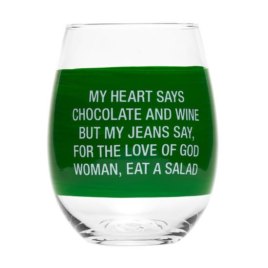 About Face Designs - My Jeans Say Wine Glass