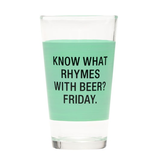 About Face Designs - Friday Pint Glass
