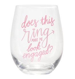 About Face Designs - Engaged Wine Glass