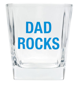 About Face Designs - Dad Rocks Rocks Glass