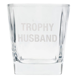 About Face Designs - Trophy Husband Rocks Glass
