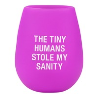 About Face Designs - My Sanity Silicone Wine Glass