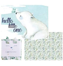 GooseWaddle - Basil Bear & Leaves Receiving Blankets