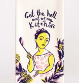 "Blue Q - ""Get the Hell Out of My Kitchen"" Dish Towel"