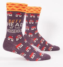 """Blue Q - """"Butthead of the Household"""" Men's Socks"""