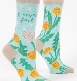 """Blue Q - """"I Never Fart"""" Women's Socks"""