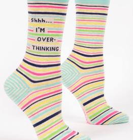 """Blue Q - """"Shhh I'm Overthinking"""" Women's Socks"""
