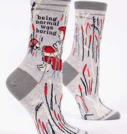 "Blue Q - ""Normal Was Boring"" Women's Socks"
