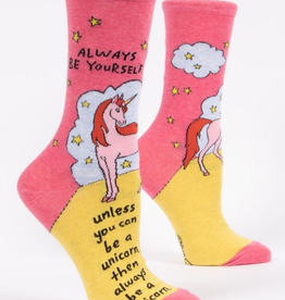 "Blue Q - ""Always Be A Unicorn"" Women's Socks"