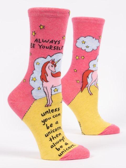 "Blue Q - ""Always Be A Unicorn"" Women's Socks"