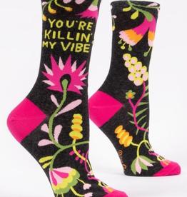 "Blue Q - ""You're Killin' My Vibe"" Women's Socks"