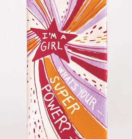 "Blue Q - ""I'm a Girl, What's Your Superpower?"" Dish Towel"