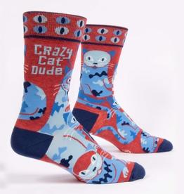 """Blue Q - """"Crazy Cat Dude"""" Men's Socks"""