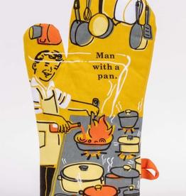"Blue Q - ""Man With a Pan"" Oven Mitt"