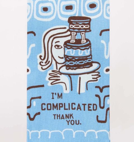 "Blue Q - ""I'm Complicated. Thank You."" Dish Towel"