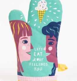 "Blue Q - ""Let's Eat Your Feelings Too"" Oven Mitt"