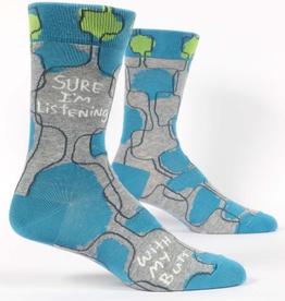 "Blue Q - ""Sure, I'm Listening..."" Men's Socks"