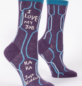 "Blue Q - ""I Love My Job"" Women's Socks"