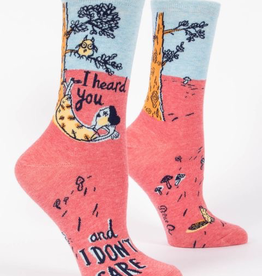 "Blue Q  - ""I Heard You and I Don't Care"" Women's Socks"