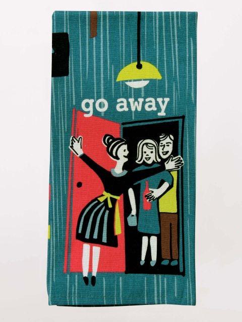 """Blue Q - """"Go Away"""" Dish Towel"""