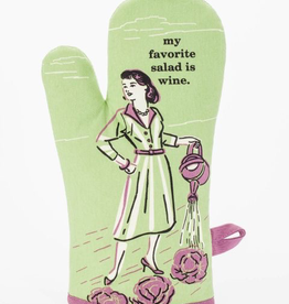 "Blue Q - ""My Favorite Salad is Wine"" Oven Mitt"