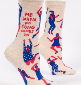 """Blue Q - """"Me When My Song Comes On"""" Women's Socks"""