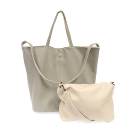 Joy Susan - Light Grey Riley Reversible Slouchy Tote