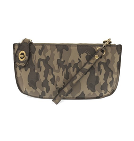 Joy Susan - Grey Camo Crossbody Wristlet Clutch