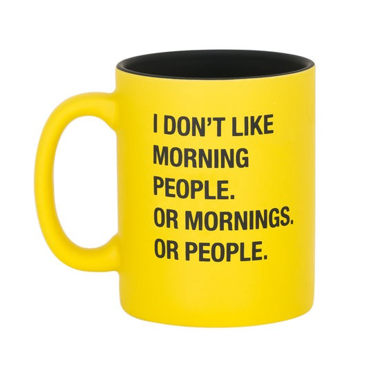 About Face Designs: Don't Like Mornings Mug