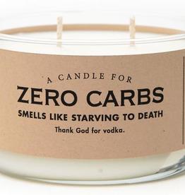 Whiskey River Soap Company - Zero Carbs - Candle