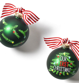 Coton Colors: Our First Christmas Tree Glass Ornament