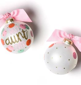 Coton Colors: Best Aunt Ever Glass Ornament