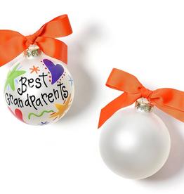 Coton Colors: Best Grandparents Ever Glass Ornament