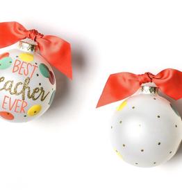 Coton Colors: Best Teacher Ever Glass Ornament