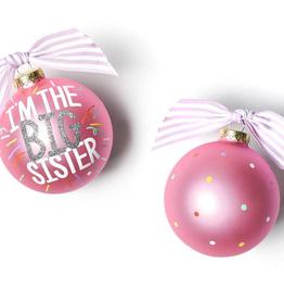 Coton Colors: Big Sister Popper Glass Ornament
