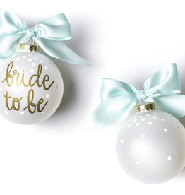Coton Colors:  Bride To Be Glass Ornament