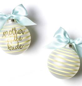 Coton Colors: Stripe Mother of the Bride Glass Ornament