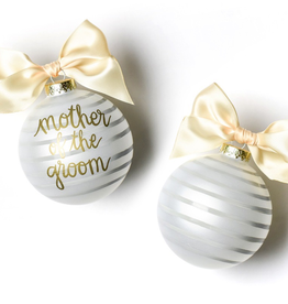 Coton Colors: Stripe Mother of the Groom Glass Ornament