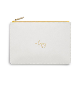 Katie Loxton Colour Pop Perfect Pouch - Be Happy - White
