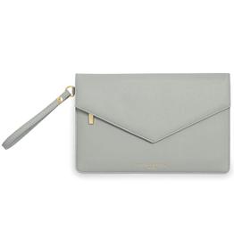 Katie Loxton ESME Envelope Clutch: Be Happy - Grey