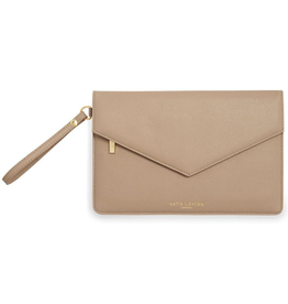 Katie Loxton ESME Envelope Clutch: Tres Chic - Taupe